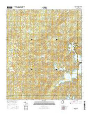 Equality Alabama Current topographic map, 1:24000 scale, 7.5 X 7.5 Minute, Year 2014 from Alabama Maps Store