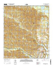 Eufaula North Alabama Current topographic map, 1:24000 scale, 7.5 X 7.5 Minute, Year 2014 from Alabama Maps Store