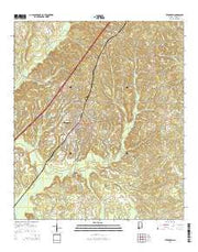 Evergreen Alabama Current topographic map, 1:24000 scale, 7.5 X 7.5 Minute, Year 2014 from Alabama Maps Store
