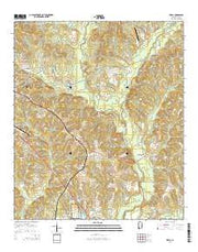 Ewell Alabama Current topographic map, 1:24000 scale, 7.5 X 7.5 Minute, Year 2014 from Alabama Maps Store