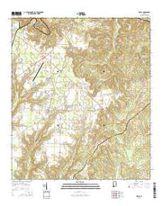 Excel Alabama Current topographic map, 1:24000 scale, 7.5 X 7.5 Minute, Year 2014 from Alabama Maps Store