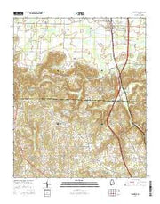 Falkville Alabama Current topographic map, 1:24000 scale, 7.5 X 7.5 Minute, Year 2014 from Alabama Maps Store