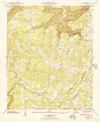 Flat Rock Alabama Historical topographic map, 1:24000 scale, 7.5 X 7.5 Minute, Year 1946