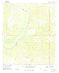 Flynns Lake Alabama Historical topographic map, 1:24000 scale, 7.5 X 7.5 Minute, Year 1972