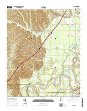 Fosters Alabama Current topographic map, 1:24000 scale, 7.5 X 7.5 Minute, Year 2014 from Alabama Maps Store