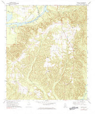 Franklin Alabama Historical topographic map, 1:24000 scale, 7.5 X 7.5 Minute, Year 1972
