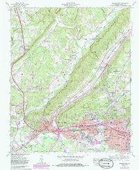 Gadsden West Alabama Historical topographic map, 1:24000 scale, 7.5 X 7.5 Minute, Year 1959