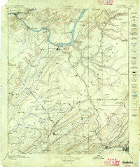 Gadsden Alabama Historical topographic map, 1:125000 scale, 30 X 30 Minute, Year 1885
