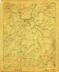 Gadsden Alabama Historical topographic map, 1:125000 scale, 30 X 30 Minute, Year 1888