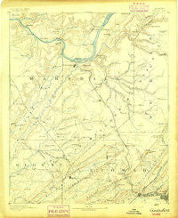 Gadsden Alabama Historical topographic map, 1:125000 scale, 30 X 30 Minute, Year 1892