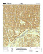 Gainestown Alabama Current topographic map, 1:24000 scale, 7.5 X 7.5 Minute, Year 2014 from Alabama Map Store