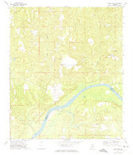 Gainestown Alabama Historical topographic map, 1:24000 scale, 7.5 X 7.5 Minute, Year 1972
