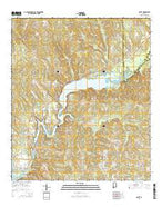 Gantt Alabama Current topographic map, 1:24000 scale, 7.5 X 7.5 Minute, Year 2014 from Alabama Map Store