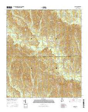 Gaston Alabama Current topographic map, 1:24000 scale, 7.5 X 7.5 Minute, Year 2014 from Alabama Maps Store