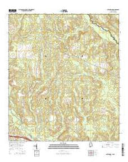 Gateswood Alabama Current topographic map, 1:24000 scale, 7.5 X 7.5 Minute, Year 2014 from Alabama Maps Store