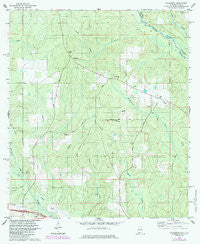 Gateswood Alabama Historical topographic map, 1:24000 scale, 7.5 X 7.5 Minute, Year 1978