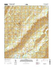 Gaylesville Alabama Current topographic map, 1:24000 scale, 7.5 X 7.5 Minute, Year 2014 from Alabama Maps Store