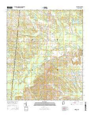 Geiger Alabama Current topographic map, 1:24000 scale, 7.5 X 7.5 Minute, Year 2014 from Alabama Maps Store