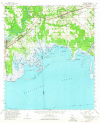 Grand Bay Alabama Historical topographic map, 1:62500 scale, 15 X 15 Minute, Year 1958