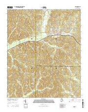 Guin Alabama Current topographic map, 1:24000 scale, 7.5 X 7.5 Minute, Year 2014 from Alabama Maps Store