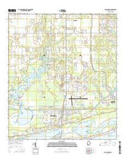 Gulf Shores Alabama Current topographic map, 1:24000 scale, 7.5 X 7.5 Minute, Year 2014 from Alabama Maps Store