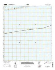 Gulf Shores OE S Alabama Current topographic map, 1:24000 scale, 7.5 X 7.5 Minute, Year 2014 from Alabama Maps Store