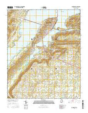 Guntersville Alabama Current topographic map, 1:24000 scale, 7.5 X 7.5 Minute, Year 2014 from Alabama Maps Store