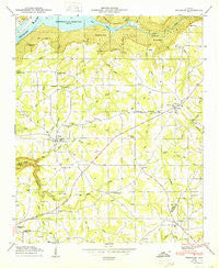 Henagar Alabama Historical topographic map, 1:24000 scale, 7.5 X 7.5 Minute, Year 1950