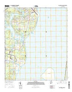 Hollingers Island Alabama Current topographic map, 1:24000 scale, 7.5 X 7.5 Minute, Year 2014 from Alabama Map Store
