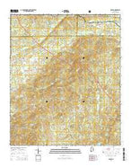 Hollins Alabama Current topographic map, 1:24000 scale, 7.5 X 7.5 Minute, Year 2014 from Alabama Map Store