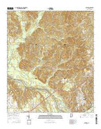 Jackson Alabama Current topographic map, 1:24000 scale, 7.5 X 7.5 Minute, Year 2014 from Alabama Map Store