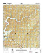 Jacksons Gap Alabama Current topographic map, 1:24000 scale, 7.5 X 7.5 Minute, Year 2014 from Alabama Map Store