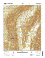 Jacksonville East Alabama Current topographic map, 1:24000 scale, 7.5 X 7.5 Minute, Year 2014 from Alabama Map Store