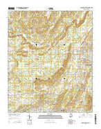 Jacksonville West Alabama Current topographic map, 1:24000 scale, 7.5 X 7.5 Minute, Year 2014 from Alabama Map Store