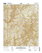 Jones Chapel Alabama Current topographic map, 1:24000 scale, 7.5 X 7.5 Minute, Year 2014 from Alabama Map Store