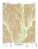 Josie Alabama Current topographic map, 1:24000 scale, 7.5 X 7.5 Minute, Year 2014 from Alabama Map Store