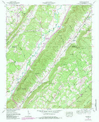 Keener Alabama Historical topographic map, 1:24000 scale, 7.5 X 7.5 Minute, Year 1959