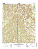 Kinston Alabama Current topographic map, 1:24000 scale, 7.5 X 7.5 Minute, Year 2014 from Alabama Map Store