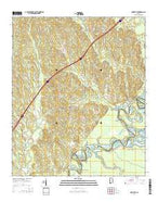 Knoxville Alabama Current topographic map, 1:24000 scale, 7.5 X 7.5 Minute, Year 2014 from Alabama Map Store