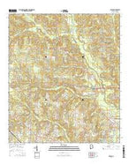 Kushla Alabama Current topographic map, 1:24000 scale, 7.5 X 7.5 Minute, Year 2014 from Alabama Map Store