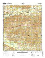 La Place Alabama Current topographic map, 1:24000 scale, 7.5 X 7.5 Minute, Year 2014 from Alabama Map Store