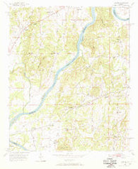 Laniers Alabama Historical topographic map, 1:24000 scale, 7.5 X 7.5 Minute, Year 1951