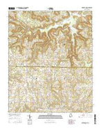 Lawrence Cove Alabama Current topographic map, 1:24000 scale, 7.5 X 7.5 Minute, Year 2014 from Alabama Map Store