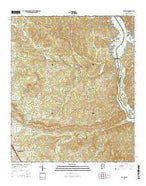 Lay Dam Alabama Current topographic map, 1:24000 scale, 7.5 X 7.5 Minute, Year 2014 from Alabama Map Store