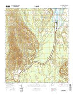 Lee Long Bridge Alabama Current topographic map, 1:24000 scale, 7.5 X 7.5 Minute, Year 2014 from Alabama Map Store