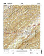 Leeds Alabama Current topographic map, 1:24000 scale, 7.5 X 7.5 Minute, Year 2014 from Alabama Map Store