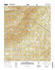 Lineville West Alabama Current topographic map, 1:24000 scale, 7.5 X 7.5 Minute, Year 2014