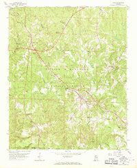 Lynn Alabama Historical topographic map, 1:24000 scale, 7.5 X 7.5 Minute, Year 1958