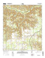McCullough Alabama Current topographic map, 1:24000 scale, 7.5 X 7.5 Minute, Year 2014 from Alabama Map Store