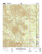 McIntosh Alabama Current topographic map, 1:24000 scale, 7.5 X 7.5 Minute, Year 2014 from Alabama Map Store